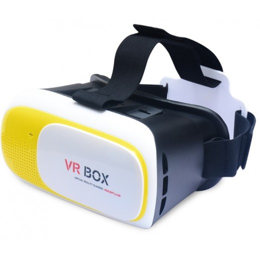 3D VR Virtual Reality Headset Glasses For Smartphones - Yellow
