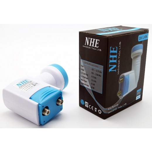 NHE Universal Full HD Ku-Band Twin LNB - White and Blue