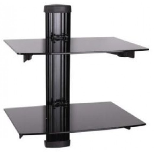 NHE Easy Stand Double Shelf for DVD Player and Receiver – Black