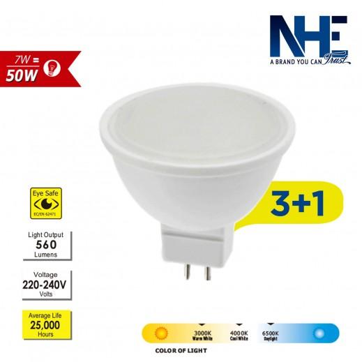NHE LED 7W Daylight - 3+1 free