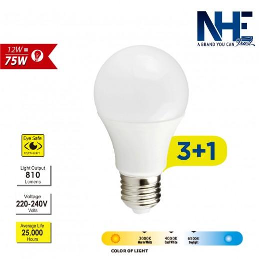 NHE LED 12 W DayLight – 3+1 free