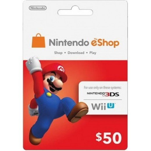 $50 Nintendo eShop Card - Item Delivered By E-mail