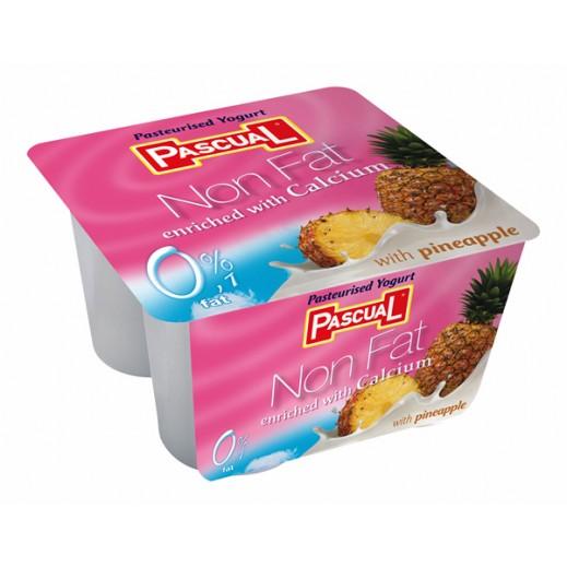Pascual Pineapple Non Fat Yogurt 4 x 125g