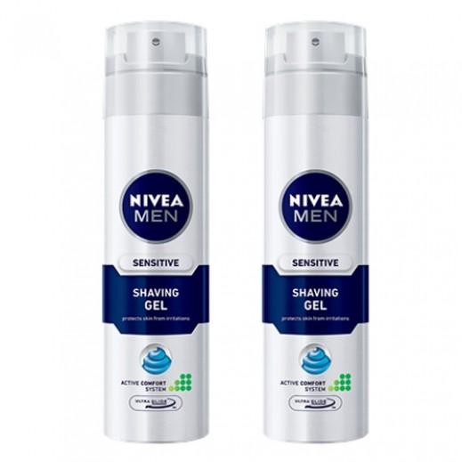 Nivea Men Sensitive Shaving Foam (2 x 200 ml)