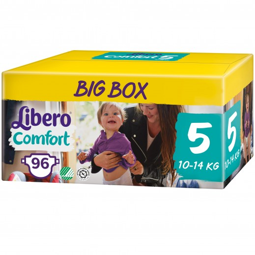 Libero Comfort Fit Diapers Size 5 (10 - 14 kg) 96 Pieces