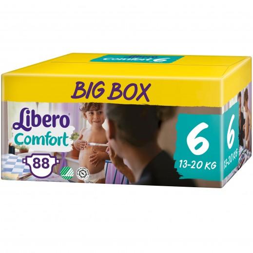 Libero Comfort Fit Diapers Size 6 (13 - 20 kg) 88 Pieces