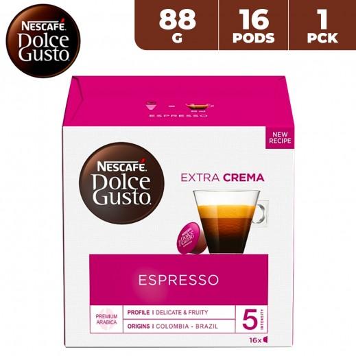Nescafe Dolce Gusto Espresso Extra Crema Coffee Capsule 88 g (16 Capsules)