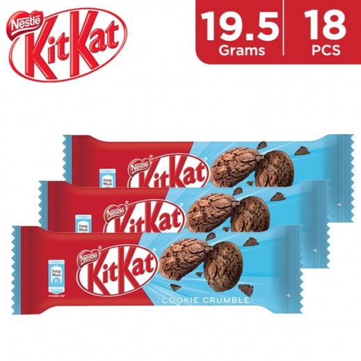KitKat 2F Chocolates Cookie Crumble Wafer Bar 19.5 g (18 Pieces)