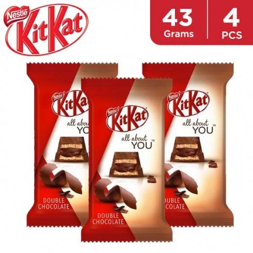 Kit Kat 5f Double Chocolate 4 x 43 g