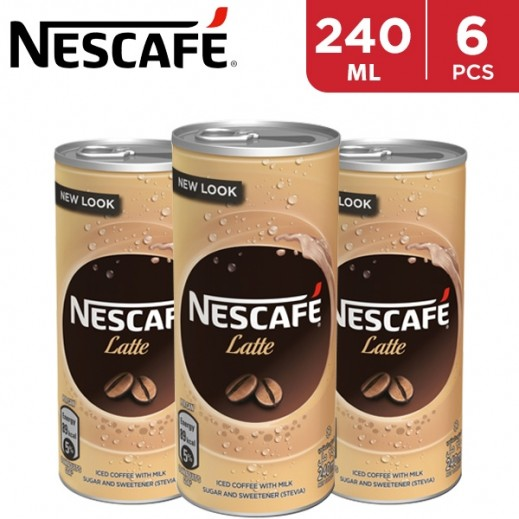 Nescafe Latte Ready To Drink Can 6 x 240 ml