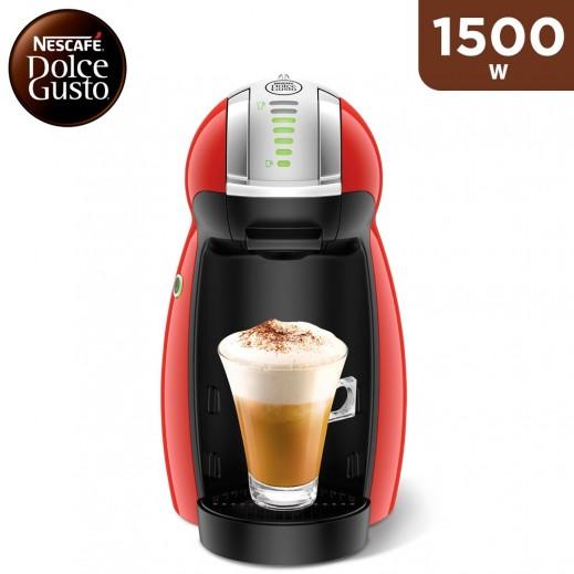 Nescafe Dolce Gusto Genio 2 1500W Coffee Machine - Red