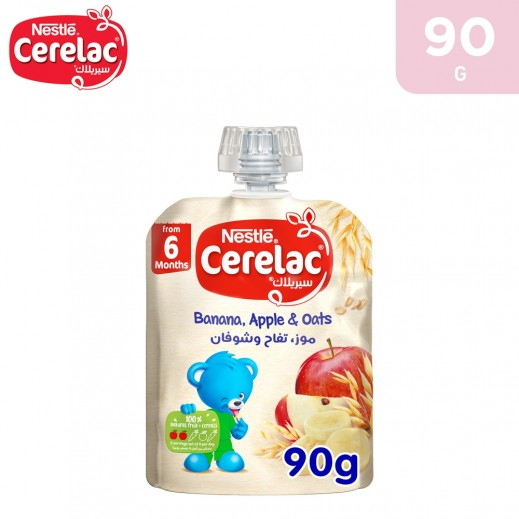 Cerelac Banana Apple & Oats Baby Food 90 g (From 6 Months)