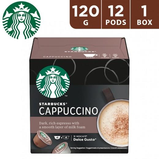 Starbucks Nescafe Dolce Gusto Cappuccino Coffee 12 Capsules 120 g