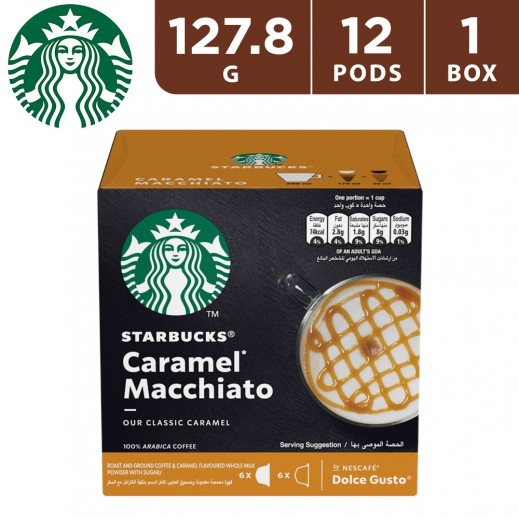 Starbucks Caramel Macchiato By Nescafe Dolce Gusto Coffee 12 Pods