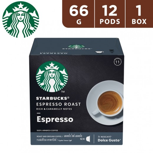 Starbucks Espresso Roast By Nescafe Dolce Gusto Dark Roast Coffee 12 Pods