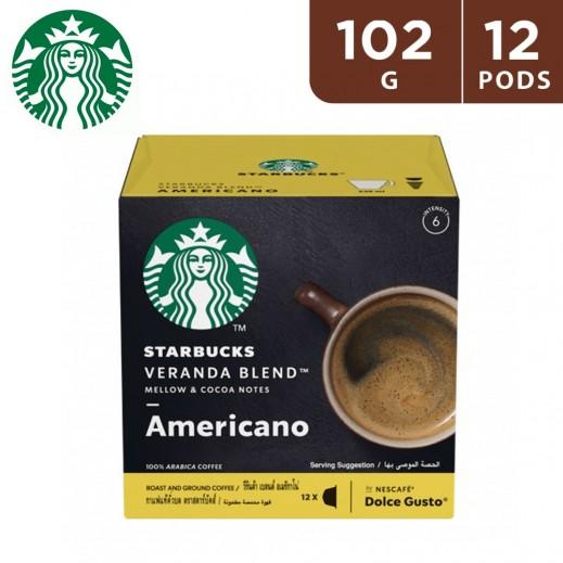 Starbucks Veranda Blend By Nescafe Dolce Gusto Blonde Roast Coffee 12 Pods