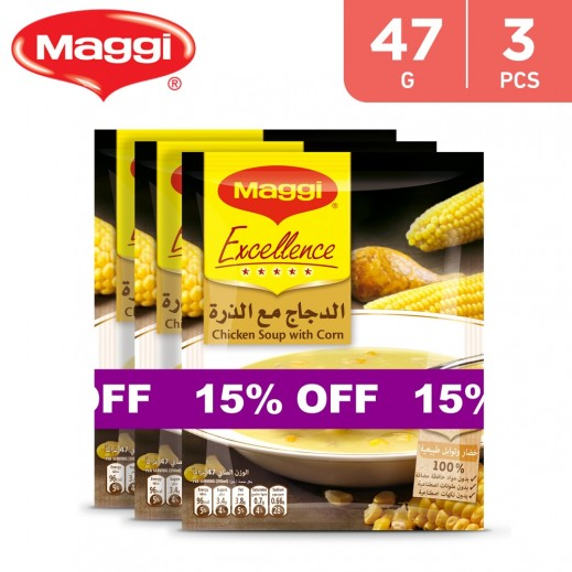 Maggi Soup Excellence Chicken With Corn Sachet 3 x 47 g