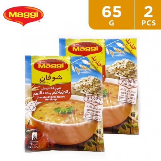 Maggi Tomato & Beef Flavor Oat Soup 2 x 65 g