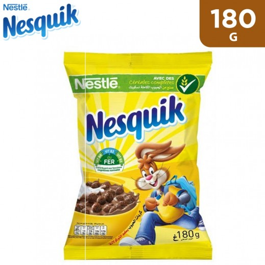 Nesquik Chocolate Flavored Cereal Bag 180 g