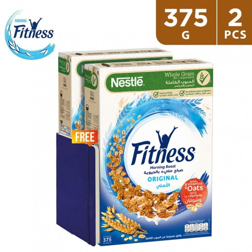 Nestle Fitness Original Cereal 2 x 375 g (Notebook Free)