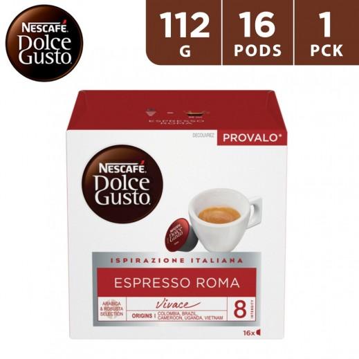 Nescafe Dolce Gusto Espresso Roma Coffee Capsules 112 g (16 Capsules)