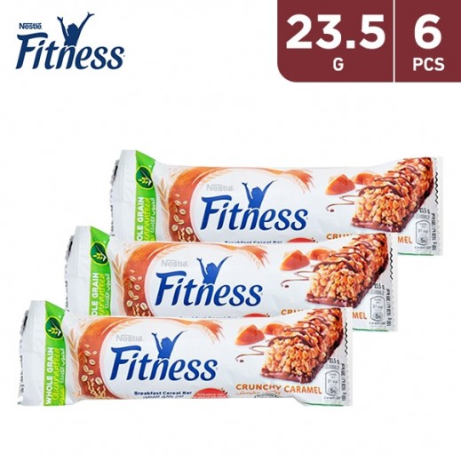 Fitness Crunchy Caramel Breakfast Cereal Bars (6 x 23.5 g)