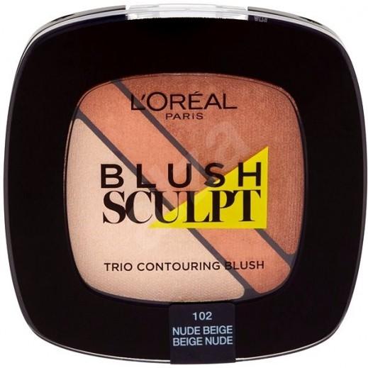 L'Oreal Paris Blush Sculpt Trio Contouring Blush 102 Nude Beige