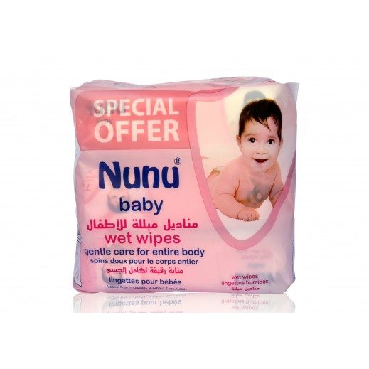 Nunu Baby Gentle Care Wet Wipes 3 x 72 Pieces