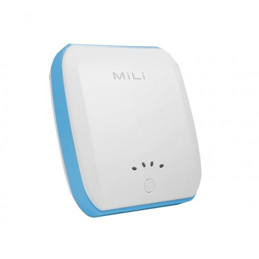 MiLi Power Bank 7,800mAh - White & Blue