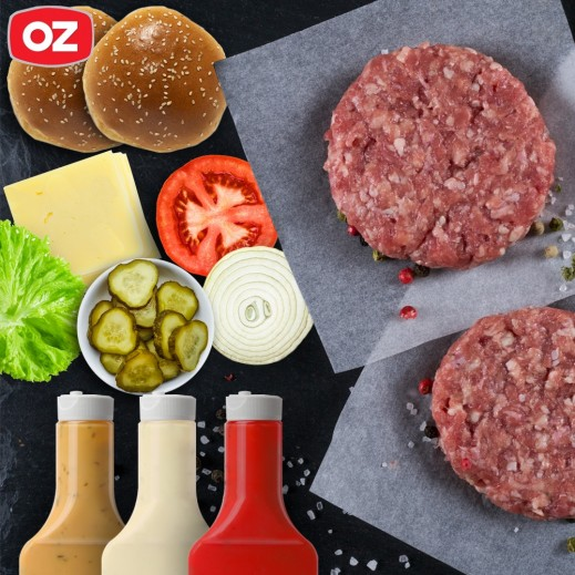 Fresh Wagyu Burger Box 12 x 125 g - delivered by OZ Catering Within 24 Working Hours
