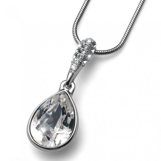 Oliver Weber Reach Rhod Crystal Pendant With Chain