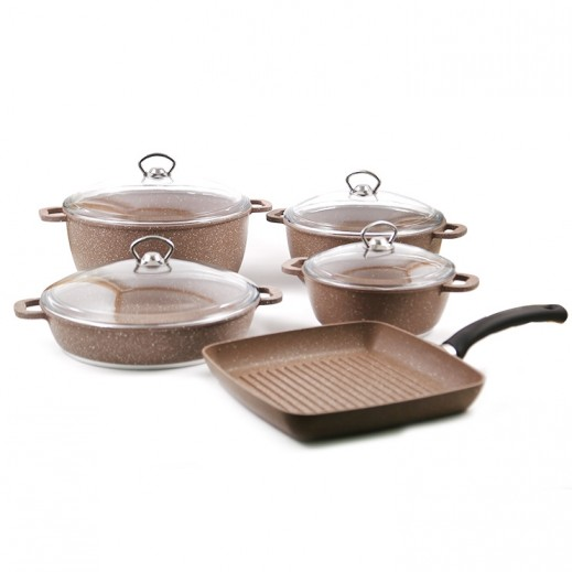 OMG Innova Concept Granite 9 Pieces Set - Brown