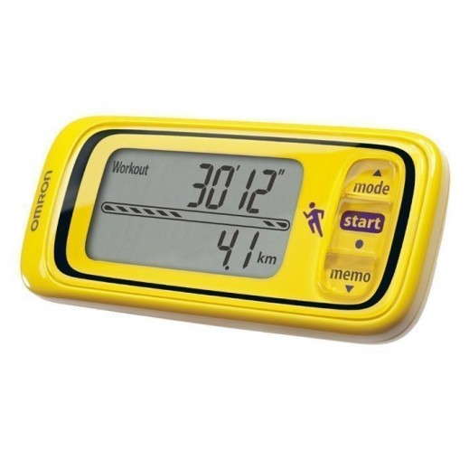 Omron Step Counter And Performance Indicator Jog Style Yellow HJA-300-EY STC