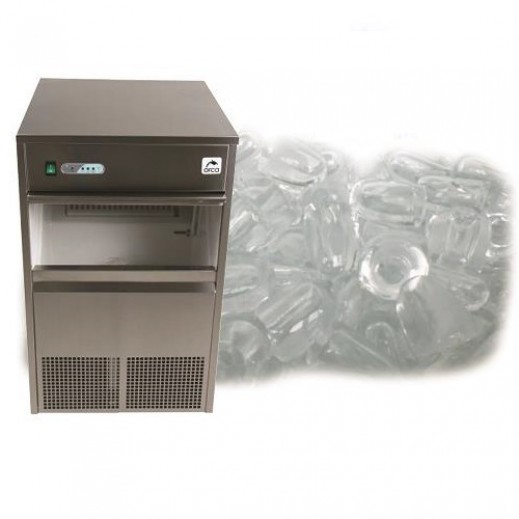 Orca Ice Maker 26 Kg Ice Making Storage 6 Kg  - Silver - delivered by EASA HUSSAIN AL YOUSIFI & SONS COMPANY