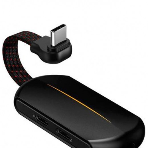 Baseus Type-C Charging and Audio Adapter 3.5 mm - Black