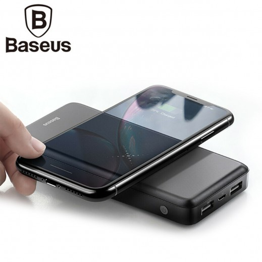 Baseus M36 10,000 mAh Wireless Power Bank – Black