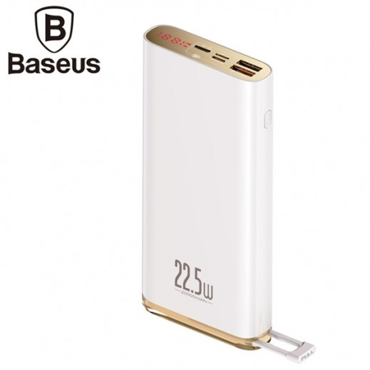 Baseus 20,000 mAh Power Bank – White