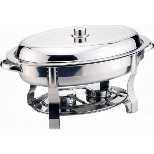 Sharp Stainless Steel Chafing Dish Oval Food Warmer 5.5 L