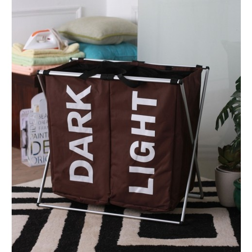 Foldable Laundry Basket Large - Brown