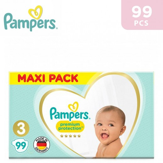 Pampers Premium Care Protection Diapers Size 3 Mega Pack 99 Pieces