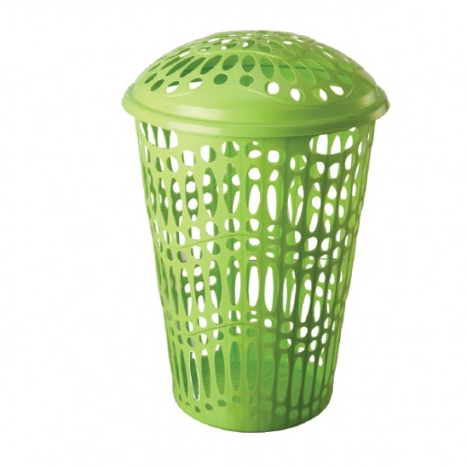 Panama Laundry Basket with Lid (Assorted Colors)- 57 cm