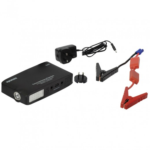 Promate Jump Starter Power Bank 13,500mAh with Emergency Torch