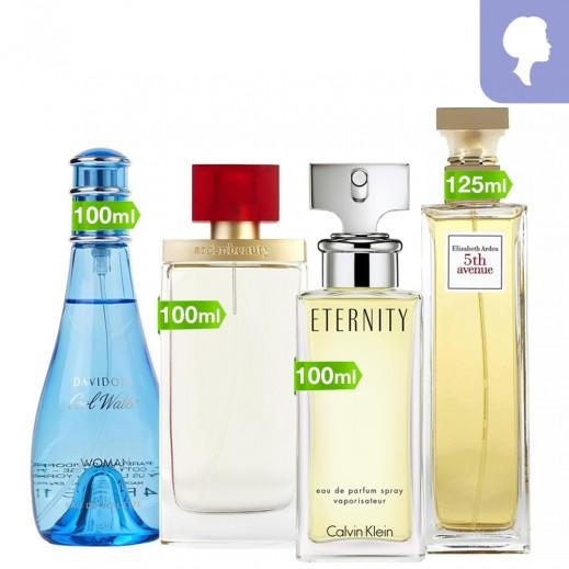 Perfume Gift Set For Women - Bundle of 4