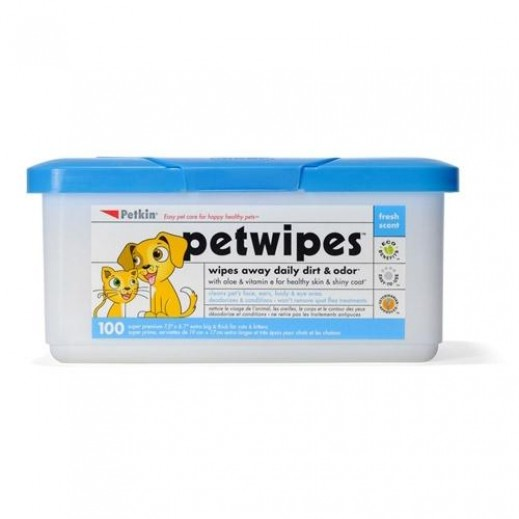 Petkin Pet Wipes (100 count)