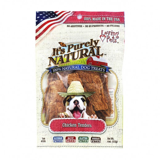 Loving Pets Purely Natural Chicken Tenders Dogs Treat 113 g