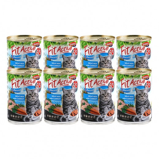 Panzi Fit Active (Adult) Cat Food Meat with Carrot 415 g (8 Pieces)