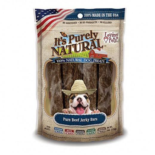 Loving Pets Pure Beef Jerky Bars Natural Dog Treats 113 g