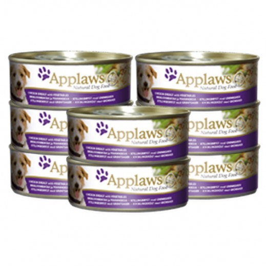 Applaws Natural Dog Food Chicken With Vegetables & Rice 8 x 156 g