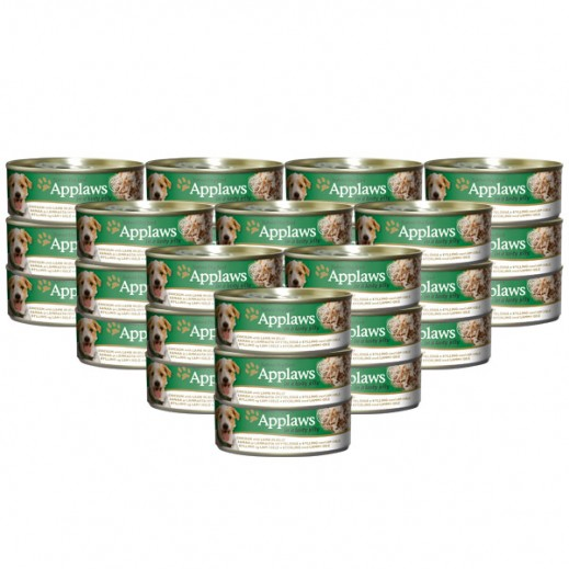 Wholesale - Applaws Natural Dog Food Chicken With Lamb In Jelly 156 g (24 Pieces)