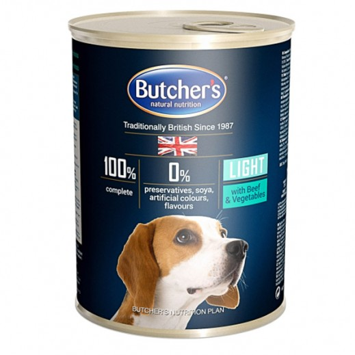 Butchers Natural Nutrition Light With Beef & Vegetables Dog Food 400 g